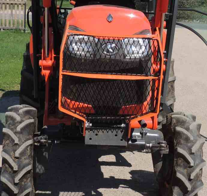5055e Tractor Brush Guard : Grille guard expanded metal yesterday s tractors