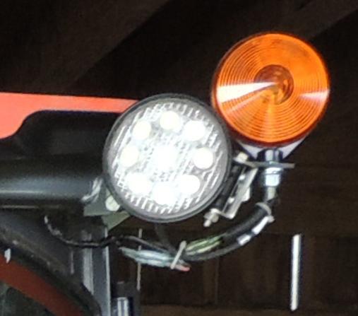 Kubota Rear Work Light : Rear work light connectors on b hsdc
