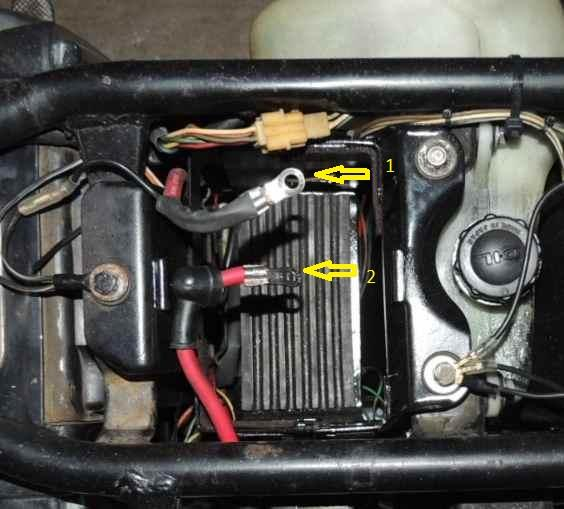 Can Some One Tell Me How I Hook The Battery Up Suzuki 2 Strokes